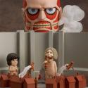 Nendoroid 360. Nendoroid Colossus Titan & Attack Playset / Attack on Titan — Фигурка Атака Титанов